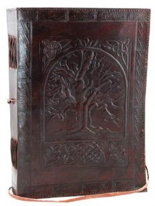 Large Tree Of Life Leather Book for Book of Shadows