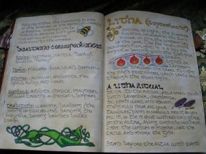 Organizing spells in a book of shadows